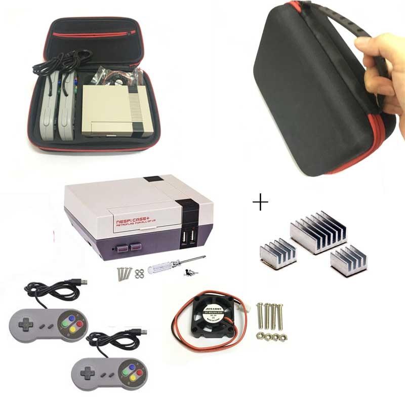 1set Mini NESPI CASE Package For Raspberry Pi 3 2 B+ NES Classic Mini For RetroPie Raspberry Pi 3/2/B+
