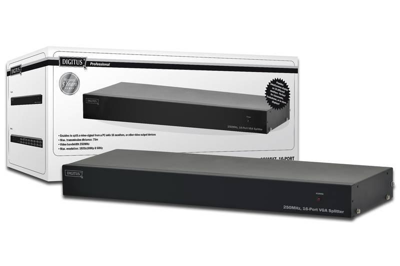 Répartiteur de distributeur VGA 16 moniteurs 250 MHz