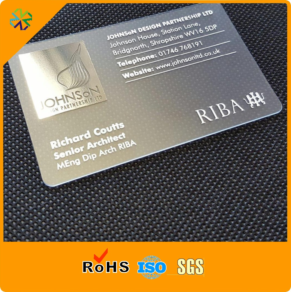 1000pcslotboth side printing silver basesilver background full 1000pcslotboth side printing silver basesilver background full color printing plastic business cards in business cards from office school supplies on reheart Gallery