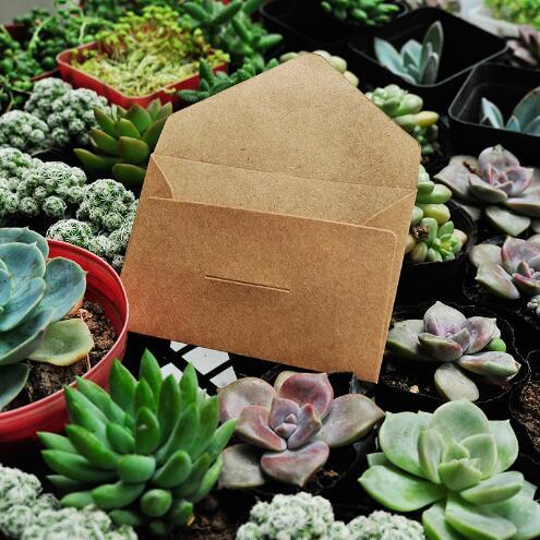 Купить с кэшбэком 50pcs/lot Black White Craft Paper Envelopes Vintage European Style Envelope For Card Scrapbooking Gift