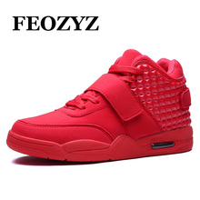 FEOZYZ New 2016 Basketball Shoes Men Medium Cut Air Sole Damping Basketball Sneakers Authletic Trainer Shoes