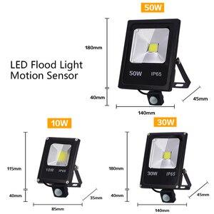 Image 2 - Motion Sensor LED Flood Light 50W 30W 10W AC 220V Waterproof IP65 Reflector Floodlight Lamp foco Led Exterior Spot Outdoor Light