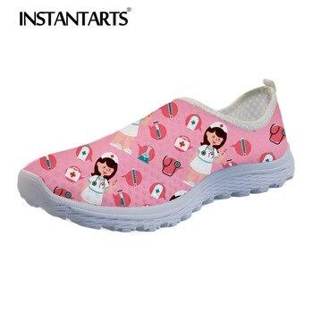 dd70a02e Zapatillas de deporte médicas quirúrgicas de Hospital instantáneas zapatos  planos de malla de aire de verano para mujeres zapatos de playa con  estampado de ...