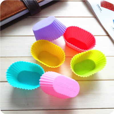High temperature 7cm elliptical pudding jelly mold cake mold silicone mold 10 pieces/lot