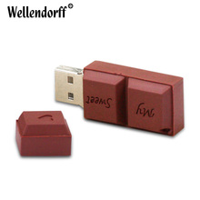 Chocolate and Too USB Flash Drive Silicone Pendrive USB2.0 64GB 32GB 16GB 8GB 4GB