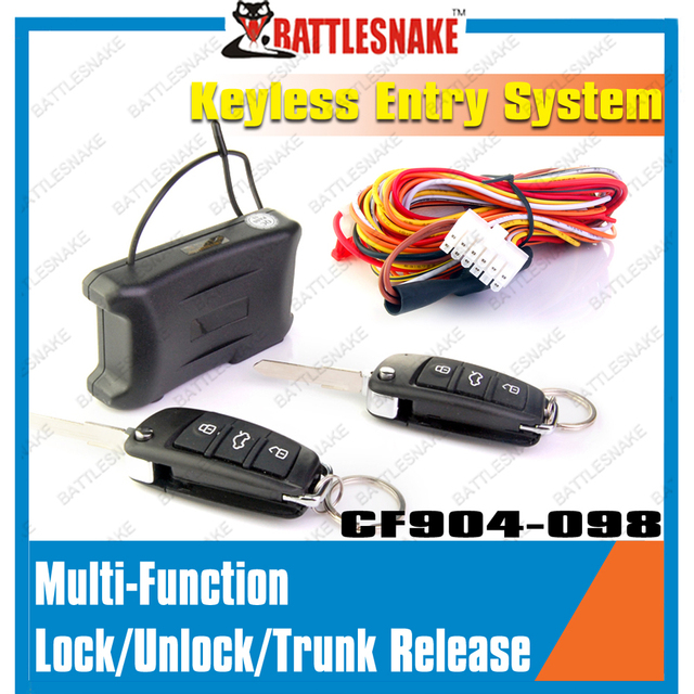 Free shipping Universal Keyless entry system CF904-098 Car Remote Central Lock Car window closer Car alarm system