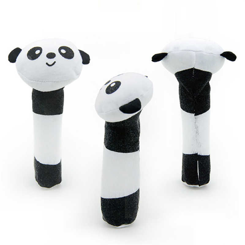 Great Quality Soft White And Black Toy Panda Baby Infant Kids Handbells Rattles For Baby Kid Gift For Babies Drop Shipping