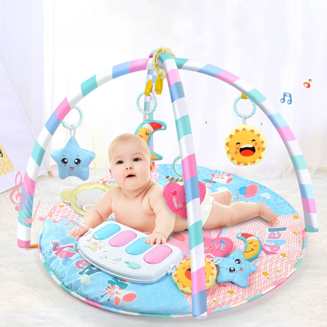 Tapis de jeu RC activité tapis de Fitness Musical Piano jeu jouets avec lumière pour bébé bébé jouant