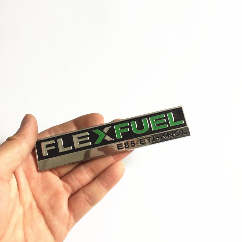Car Metal Flex Fuel E85 Hybrid Auto Rear Trunk Lid Sticker Badge Fender Emblem