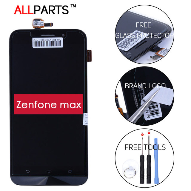 100% Tested Original Dual SIM 4G LTE TFT 1280x720 Display For ASUS Zenfone Max LCD Touch Screen Digitizer ZC550KL with Frame