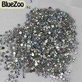 BlueZoo 1440 unids Crystal AB Crystal Glitter Clear Hotfix Flatback Del Arte Del Clavo Decoración Rhinestone Accesorios de Belleza Del Clavo Tip