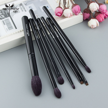 Anmor High Quality Goat Hair Make Up Brushes Set Black Handle Brushes For Makeup Eyeshadow Colors Blending Tools