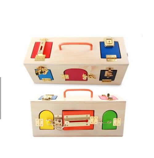 Montessori en bois début éducation puzzle bébé début débloquer jouets maternelle Intelligence enseignement outil - 5