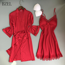 BZEL Women Casual Lace Lingerie Nightwear Underwear Robe Bab