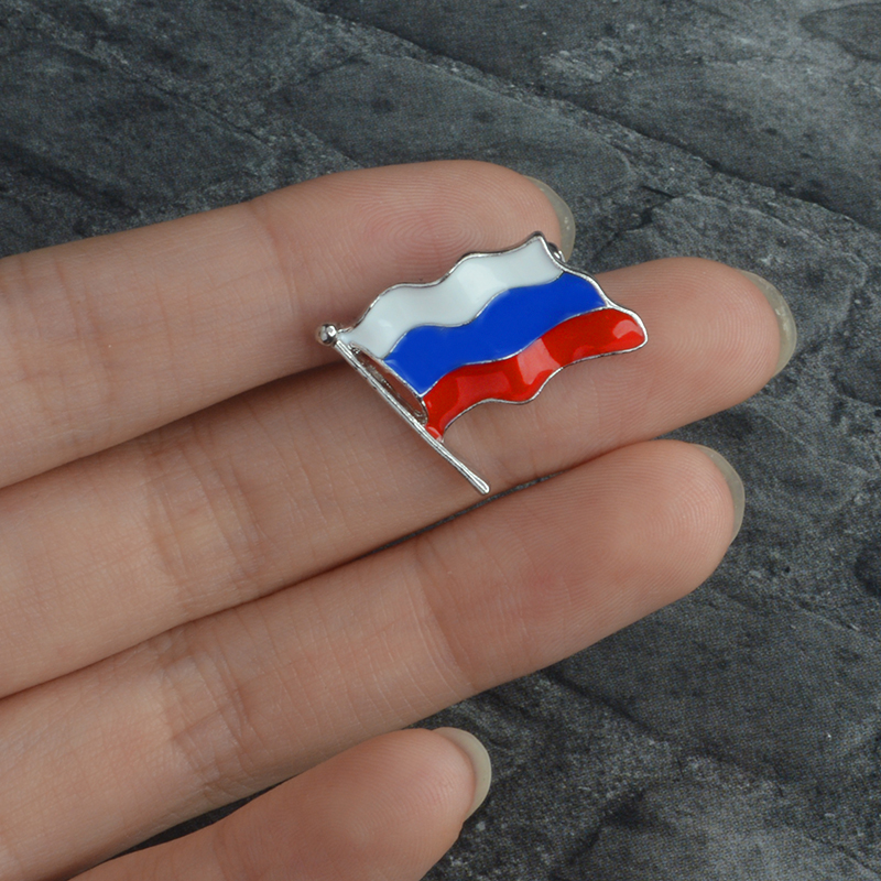 Russia National Flag Metal Lapel Badge Pin Creative Gifts