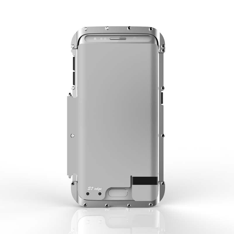 imágenes para R-JUST Original Armor King Teléfono Plegable Caja de Metal de Acero Inoxidable Bolso Del Teléfono móvil para Samsung Galaxy S7/S7 Borde Caso JS0513