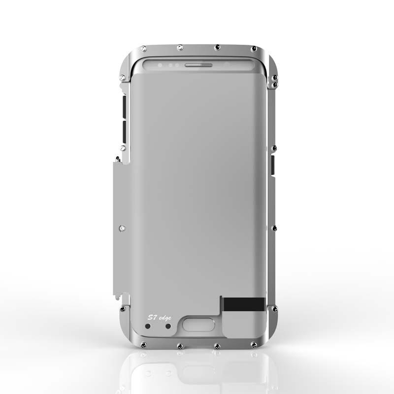 Цена за R-JUST Оригинальный Броня Король Из Нержавеющей Стали Флип Телефон Металлический Корпус мобильный Телефон Сумка для Samsung Galaxy S7/S7 Крайний Случай JS0513