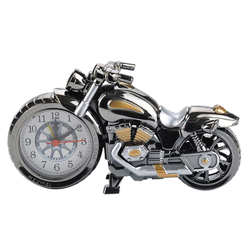 New arrival! Cool Motorcycle Design Quartz Alarm Clock Time Keeper Desktop Decor Timepiece
