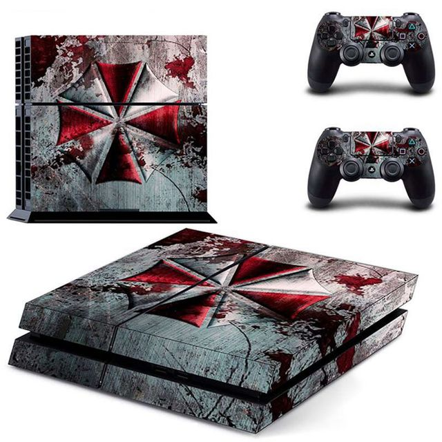 HOMEREALLY PS4 Skin PVC HD Resident Evil Umbrella Logo Sticker For Sony PlayStation 4 Console Vinyl Sticker For Ps4 Controller 4