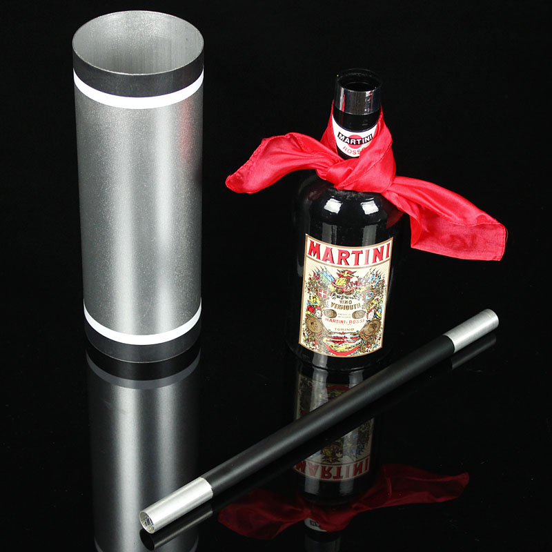 Cane Silk and Bottle Magic Tricks Silk Vanish Bottle Appear From Empty Tube Magia Magician Stage Illusions Gimmick Mentalism magic bottles bottles appear from double cylinder black set stage magic tricks