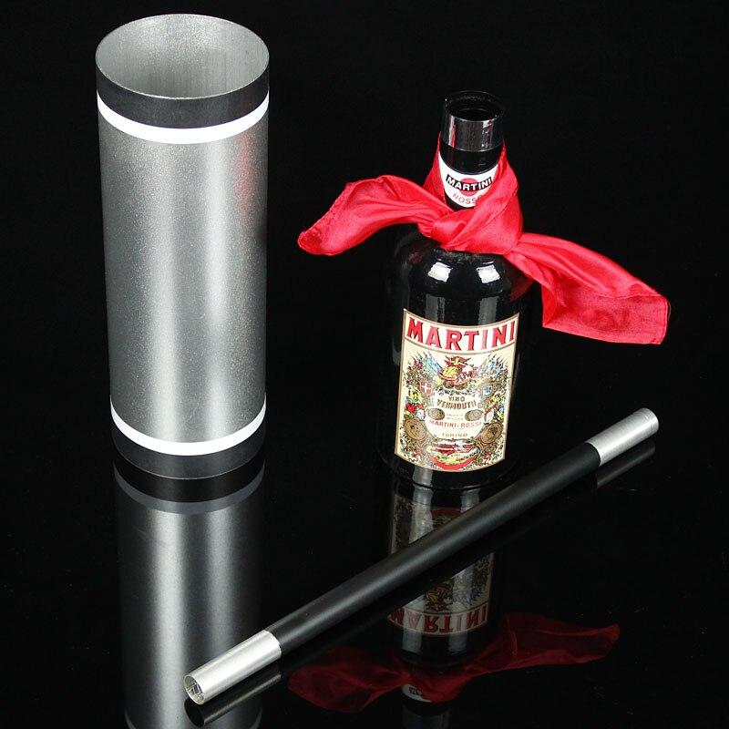 Canne soie et bouteille tours de magie soie disparaître bouteille apparaissent de Tube vide Magia magicien scène Illusions Gimmick mentalisme