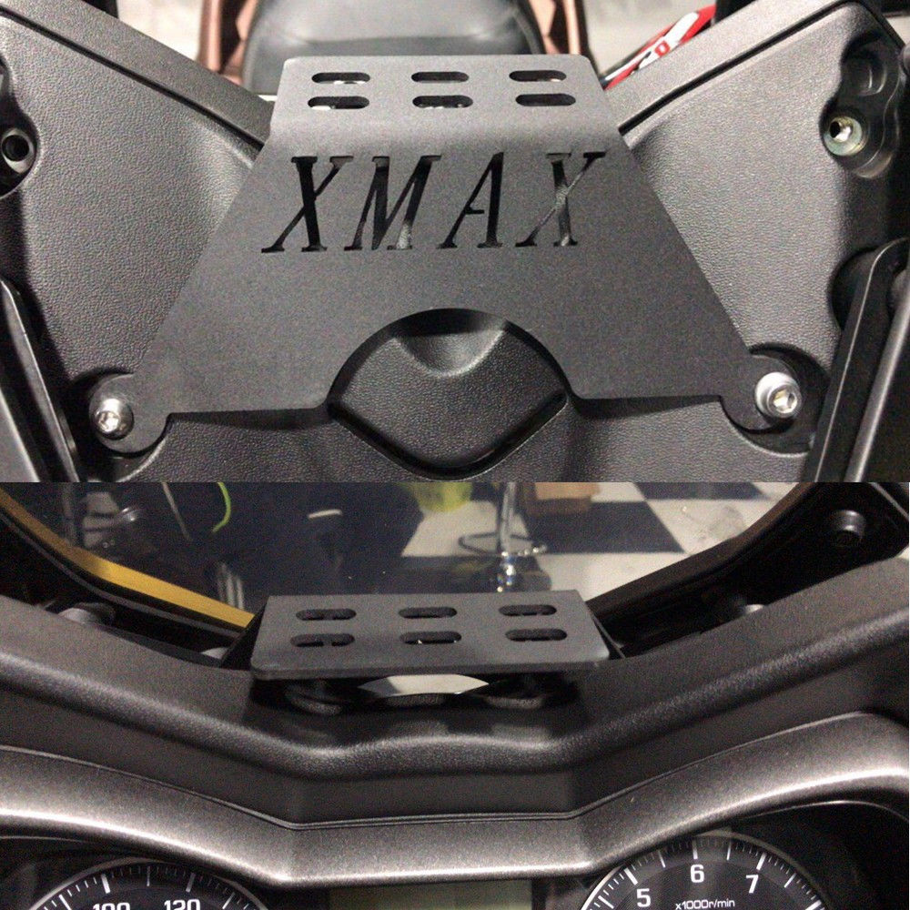 XMAX Motorcycle Front Phone Stand Holder Smartphone Phone GPS Navigaton Plate Bracket For Yamaha XMAX125 250 300 400 2017-2019