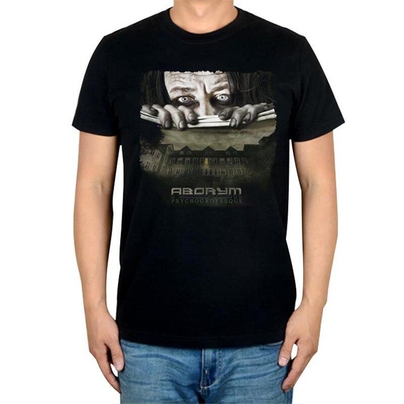 6 дизайнов, Летний стиль, ABORYM, панк-рок, брендовая черная футболка, 3D mma camiseta, фитнес, хлопок, футболка с тяжелым металлическим принтом, футболки - Цвет: 2