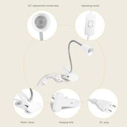 Гибкий провод настольная лампа для шеи розетка Клип держатель переключатель для E27 400 мм ALI88