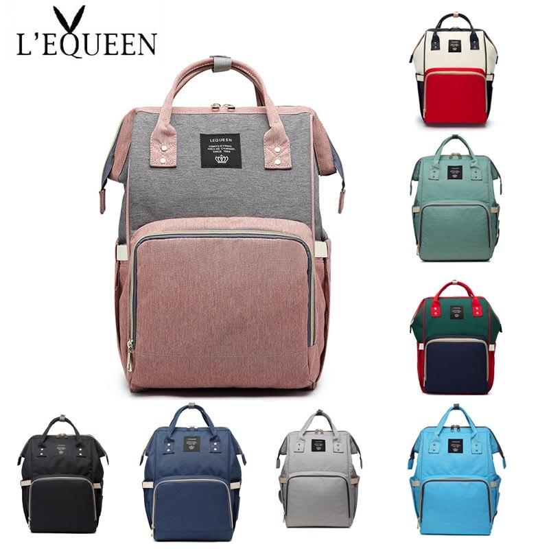 Lequeen   Backpack Travel Bag Diaper Bag Mummy Bag Portable Nappy Bag Large Capacity  Nursing Bag Diaper Bag Bebe Accessories