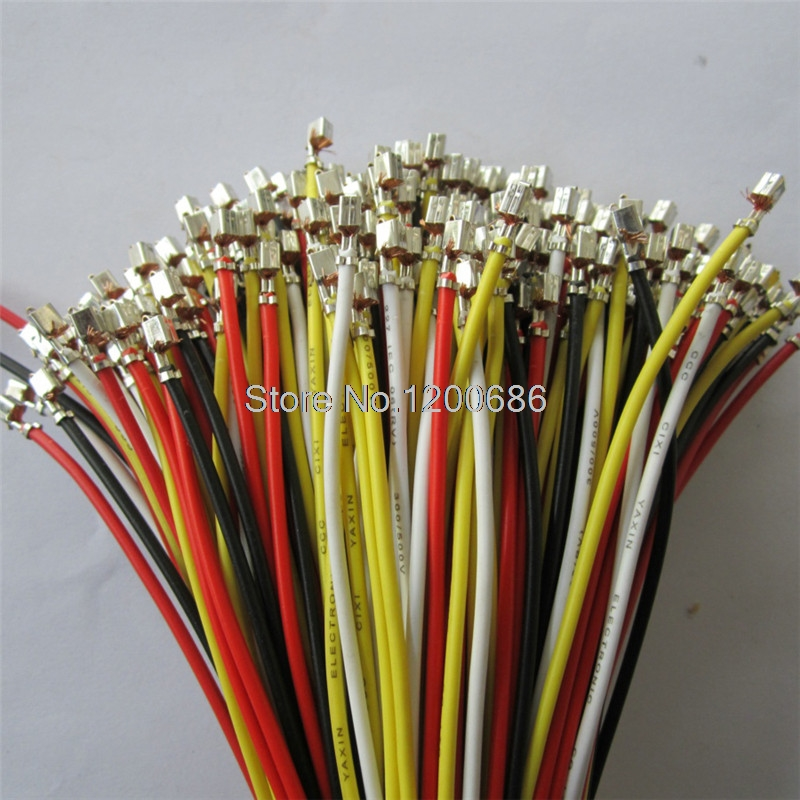 15CM 22AWG VH3.96 3.96mm Connector wire cable Reed Cold Head Metal Terminal connector wire cable For DIY