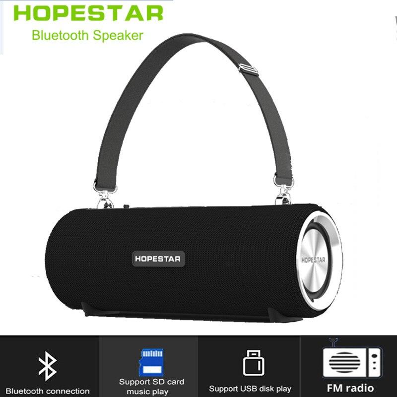Hopestar Wireless Bluetooth Speaker column waterproof portable Outdoor boombox stereo Bass sound box PC Computer radio subwooferHopestar Wireless Bluetooth Speaker column waterproof portable Outdoor boombox stereo Bass sound box PC Computer radio subwoofer