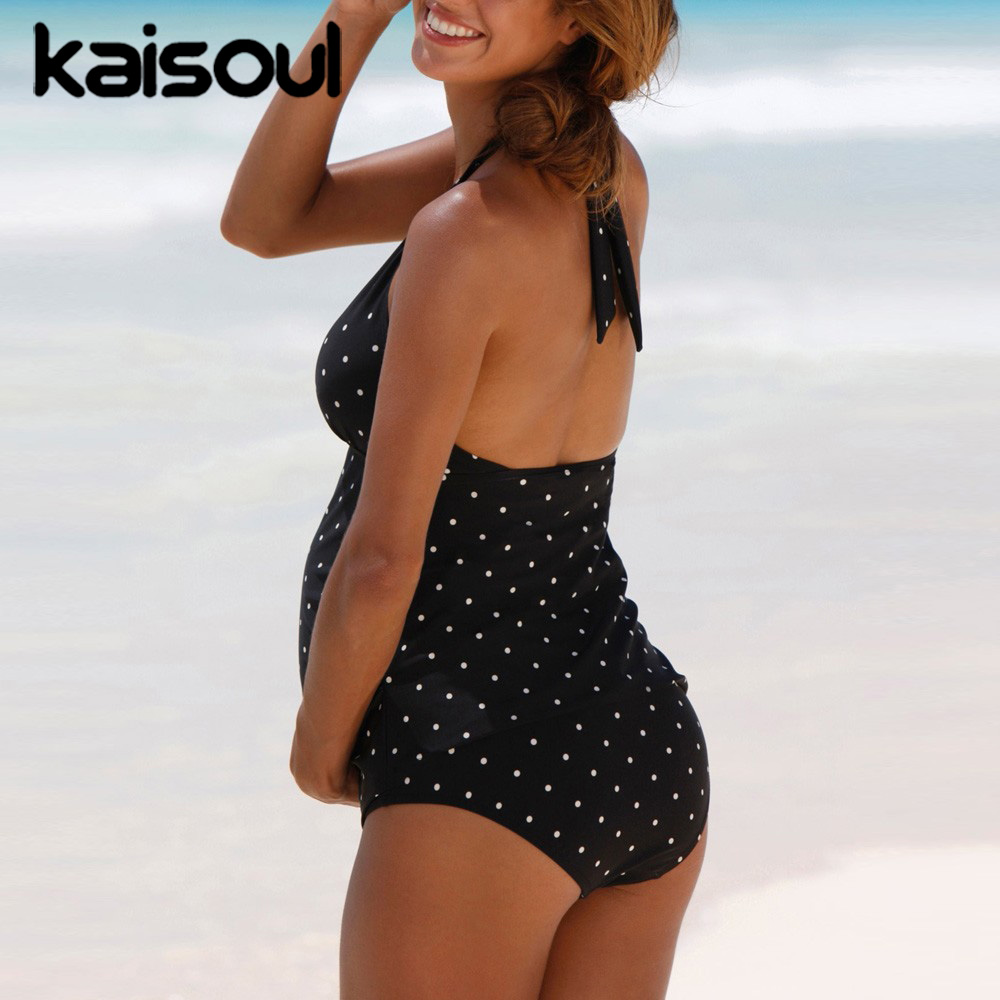 Pregnant Maternity Bikini Set Two Pieces Women Swimsuit Push Up Print Swimming Beachwear Sexy Swimwear New Arrival Padded in Body Suits from Sports Entertainment