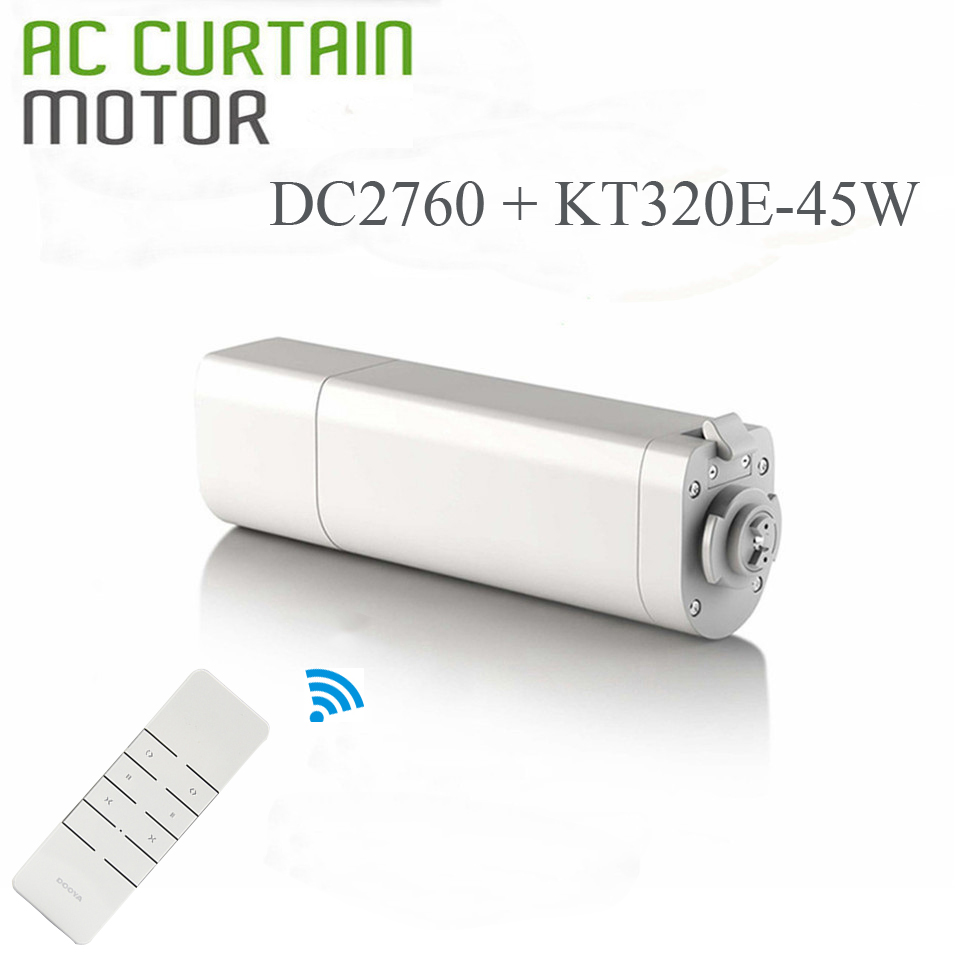 2018 New Dooya Electric Curtain Motor KT320E 45W 220V with remote DC2760 Sunflower Intelligent Motor Control Curtains Smart Home ewelink dooya electric curtain system curtain motor dt52e 45w remote control motorized aluminium curtain rail tracks 1m 6m