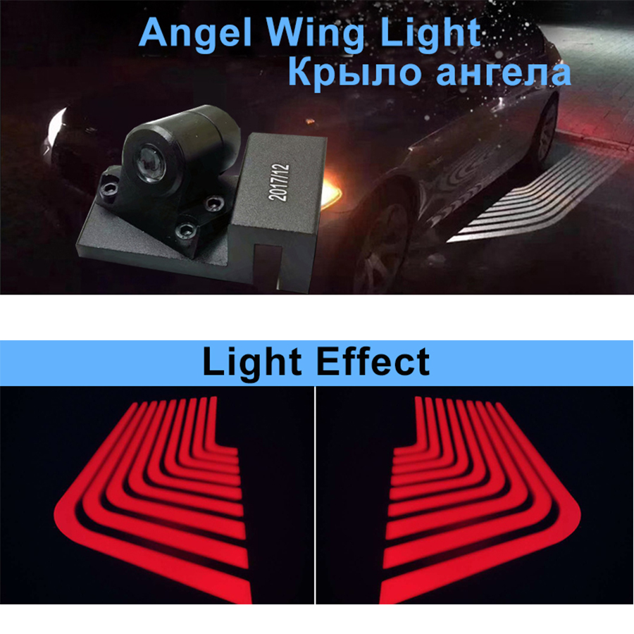 2X Car LED Door Welcome Logo Laser Projector Ghost Shadow Light For Universal Cars Red 2018 newest
