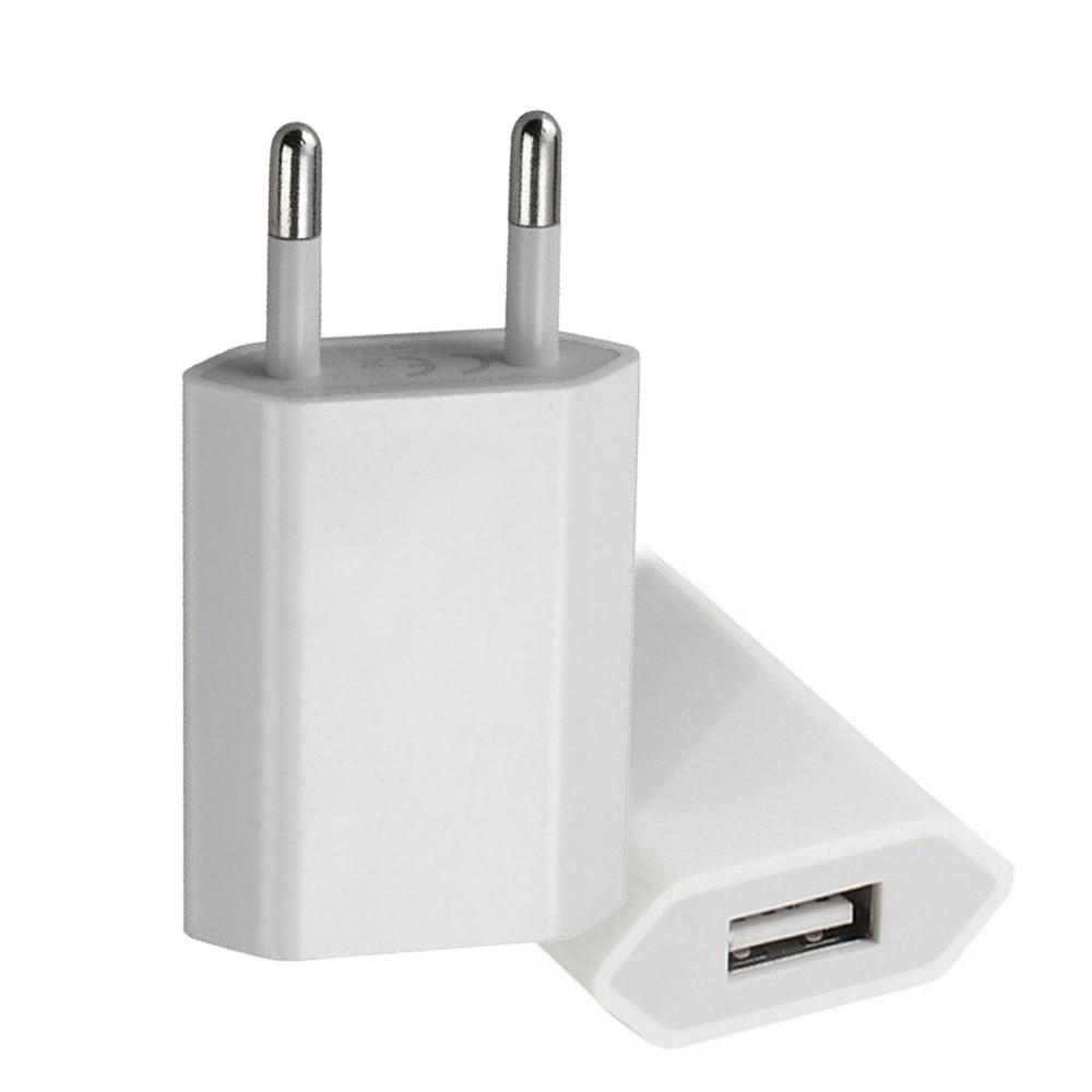Европейский USB адаптер питания с европейской вилкой, настенное зарядное устройство для путешествий для iphone, samsung, LG, G5, для дома, офиса и путешествий, новинка - Название цвета: Белый