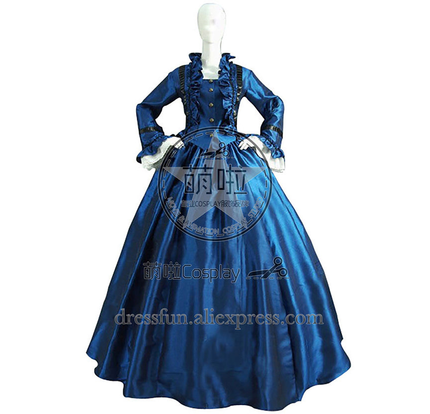 ff3135b3999 Victorian Lolita Civil War Satin Evening Gothic Lolita Dress With Elegant  Ruffles decorated And Has Glossy