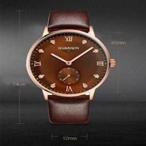Image 5 - Original GUANQIN Uhren Männer Luxus Top Marke Mechanische Uhr Mode Business Hardlex Casual Armbanduhr Leder Männlichen Uhren