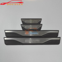 Car Styling Stainless Steel Door Sill Scuff Plate Pedal Trim Guard For Ford Escape Accessories 2014