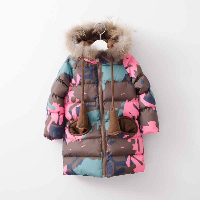 Toddler Girls Fashion Autumn Winter Clothes Children Camouflage Print Clothing Parkas Winter Coats Hooded Baby 6pcs/LOT цена
