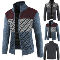 FAVOCENT New Autumn Winter Men's Sweater Wool Men Turtleneck Solid Color Casual Sweater Men's Thick Fit Brand Knitted Cardigans
