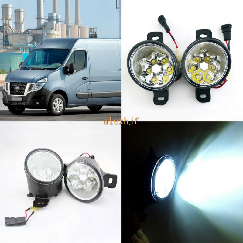 July King 18W 6LEDs H11 LED Fog Lamp Assembly Case for Nissan NV400 2011~ON,  6500K 1260LM LED Daytime Running Lights july king 18w 6leds h11 led fog lamp assembly case for nissan x trail 2014 on rouge 2008 2011 2014 on 6500k 1260lm led drl