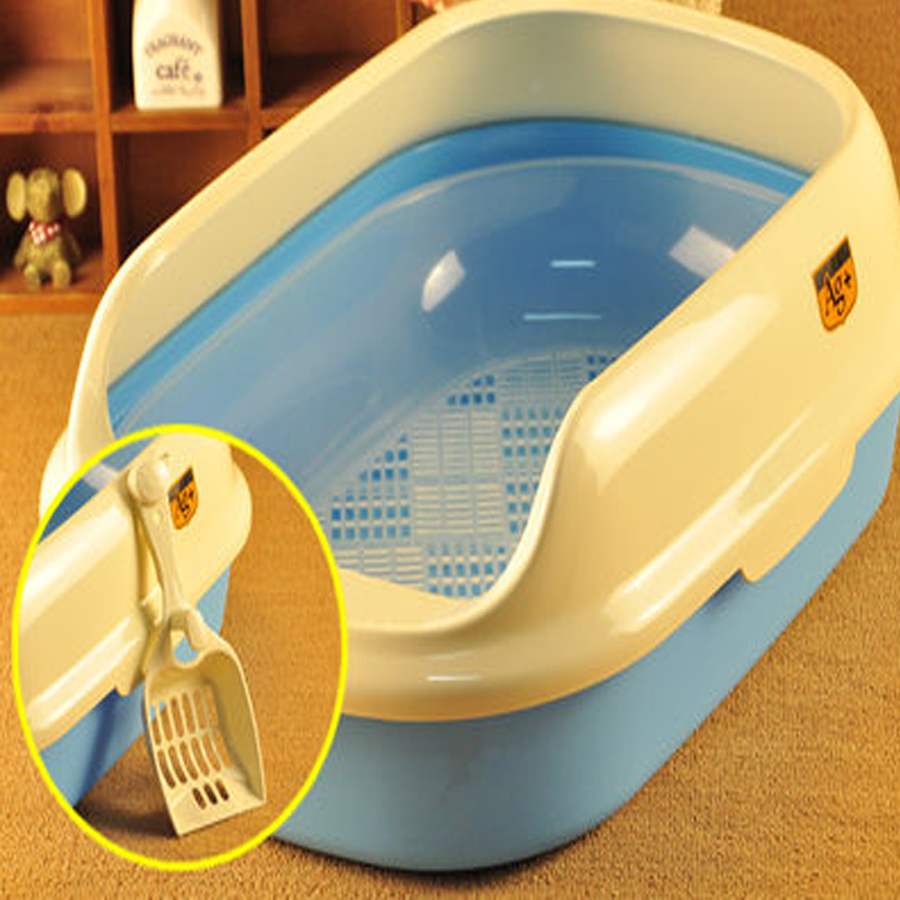 Large Pet Cats Toilets Litter Box Potty Cat Litter Trays Toilet Pets Aseo Gato Purifying Kuwety Dla Kota Animal Supplies 90Z1999 翻轉 貓 砂 盆