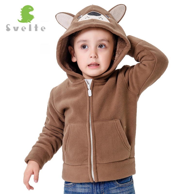 Svelte Brand Autumn and Winter kids Fur Coats boys Kids Hooded Bears Coat Fashion Thick Fleece warm Lovely outerwear Enfant