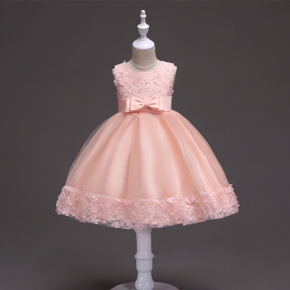 Princess Flower Girl Dress Cute Summer Tutu Wedding Birthday Party Dresses For Girls Children's Costume Teenager Prom Designs blue&pink white princess girl tutu dress children girls wedding birthday photo party costume tutu summer clothes for girl 2 14y