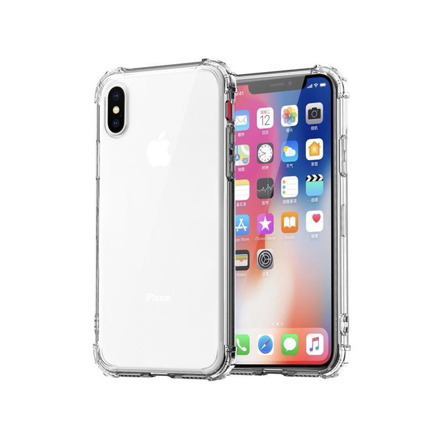 official photos a2d5b d04b9 US $1.95 |Phone Case for iPhone X 7 8 Plus Transparent Anti Shock Case for  iPhone 6 6S PLUS XR XS MAX Protective Back Cover TPU Silicone-in Phone ...