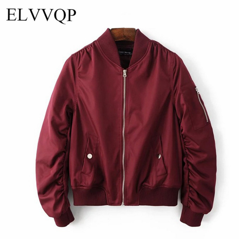 Spring Autumn Women Bomber   Basic     Jacket   Casual Long Sleeve Windbreaker Female Abrigos Mujer 2018 Korean Harajuku   Jacket   NW508
