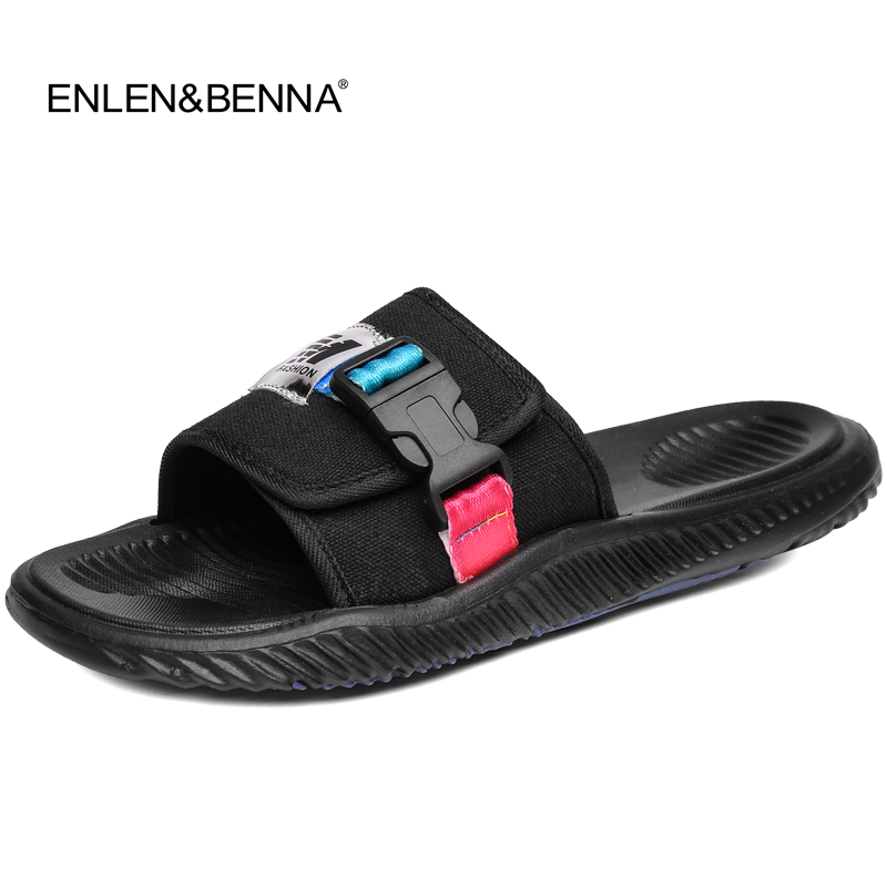 8031be6cb4cf55 Hot 2018 Summer Slippers Men s Casual Sandals Leisure Soft Slides Massage  Beach Sandals Sandalias Hombre Men