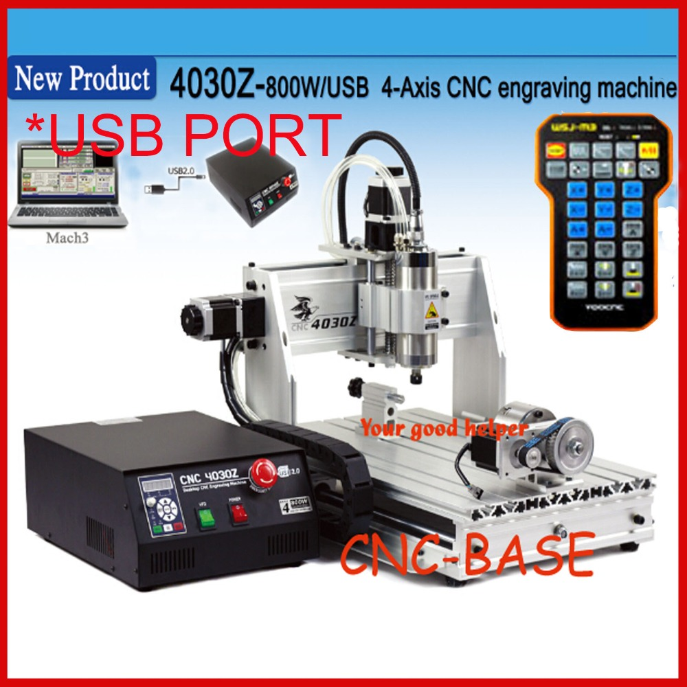 USB ( laptop ) + 4  four axis 3040 800W cnc router , cnc engraving machine / pcb milling machine / wood carving router engraver 110v 220v 4 axis 800w usb cnc 3040 water tank cnc router cnc machine milling machine