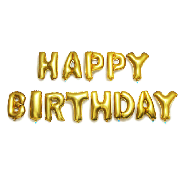 Multicolor Letters HAPPY BIRTHDAY Foil Balloons Silver Gold Children Happy Birthday Letter Ballons Party Decorations Supplies