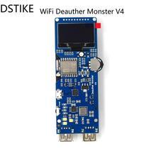 DSTIKE WiFi Deauther Monster V4 | ESP8266 18650 макетная плата | Обратная Защита | чехол для антенны | функция банка питания